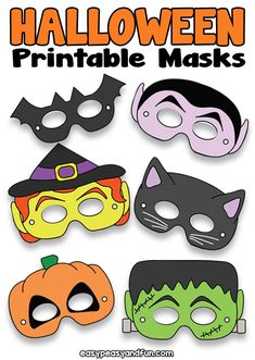Halloween Printable Masks Templates – Easy Peasy and Fun Membership Halloween Masks Kids, Printable Halloween Masks, Printable Masks, Halloween Activities, Easy Halloween, Halloween Party, Haloween Mask, Halloween 2020, Mascaras Halloween