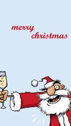 Drunk Santa Christmas iPhone 6 & iPhone 6 Plus Wallpaper