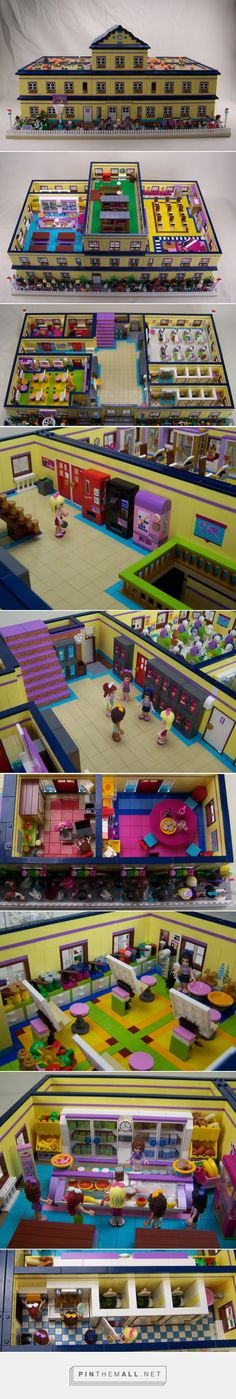 ( MOC ) Lego Friends Heartlake High - LEGO Town - Eurobricks Forums - created…>>>>> oh my gosh where can i find this? Lego Modular, Lego Design, Moc Lego, Lego Minecraft, Minecraft Buildings, Legos, Lego Friends Sets, Lego Boards, Amazing Lego Creations