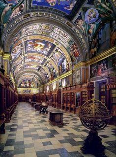 Bibliothèque du Monastère San Lorenzo Del Escorial - Madrid, Spain