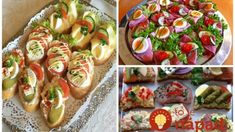To je nápad! Slovak Recipes, Good Food, Yummy Food, Food 52, Party Snacks, Bruschetta, Vegetable Recipes, Bon Appetit, Sushi