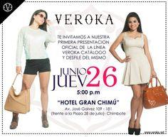 Chicas! las invitamos a la 1era presentación oficial del catalogo VEROKA, en la hermosa ciudad de Chimbote