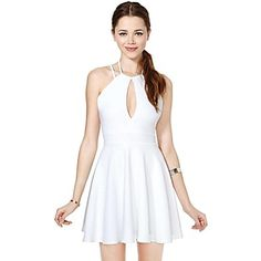 Women's White Dress , Party/Work Sleeveless – CAD $ 27.79