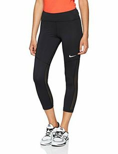 Nike Womens Capri Leggings Black Yoga Workout Pants Athletic Dri Fit Size M