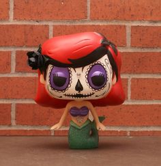 Custom Funko POP Vinyl Disney Princess Ariel Day of the Dead style Comes repackaged in original box Everything I make, I sell.  You can check out all of my work and purchase something on facebook: www.facebook.com/ImaginationTherapy