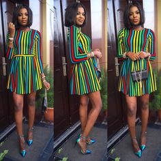 Many times our Friday night style looks are super glam and elegant but below are Friday night style inspirations that would inspire your choice this evening Short African Dresses, African Print Dresses, African Wear, African Fashion Dresses, African Prints, Short Dresses, Chic Outfits, Girl Outfits, Fashion Outfits