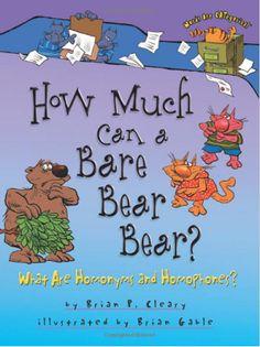 Homophones - How Much Can a Bare Bear Bear?