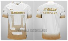 Pumas de la UNAM 2015 2016 Nike Home and Away Soccer Jersey