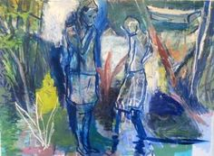 "Saatchi Art Artist Belinda Wilson; Painting, ""conversation with the boy"" #art"