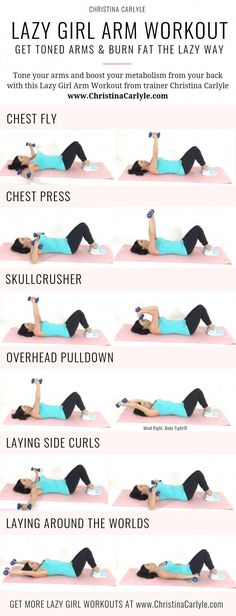 Lazy Girl Arm Workout for Tight Toned Arms the Easy Way Lazy Girl . - Lazy Girl Arm Workout for Tight Toned Arms the Easy Way Lazy Girl Arm Workout for Tig - Fitness Workouts, Fitness Logo, Body Fitness, Fitness Diet, Health Fitness, Physical Fitness, Fitness Quotes, Bike Workouts, Cycling Workout