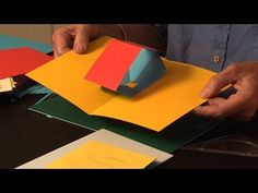 Make pop up cottage card with narration, also gingerbread house. - YouTube