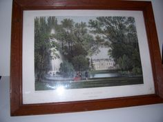 Vintage Antique 1955  framed Art Print   PARIS PALAIS de L'ELYSEE   20 x 15 by LIZ404 on Etsy