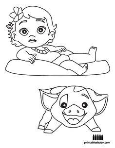 Disney's Moana Coloring Pages Sheet, Free Disney Printable