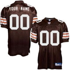 Reebok Cleveland Browns Authentic Alternate Customized Jersey