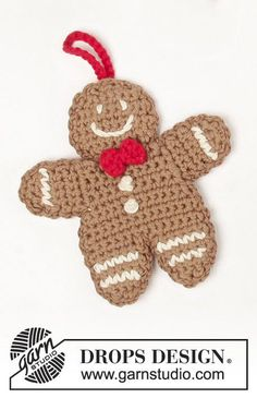 Free Crochet Patterns for Baby Items for New Year 2019 Part 47 & Crochet Ideas Knit Christmas Ornaments, Crochet Christmas Decorations, Christmas Gingerbread, Christmas Knitting, Christmas Crafts, Crochet Ornament Patterns, Crochet Ornaments, Christmas Crochet Patterns, Holiday Crochet