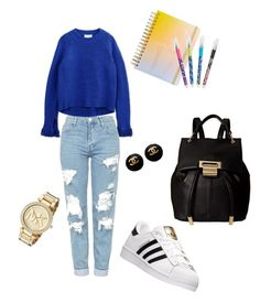 """Back to school 😉😎"" by qqueeen on Polyvore featuring 3.1 Phillip Lim, Topshop, adidas, Ivanka Trump, ban.do, Vera Bradley and Michael Kors"