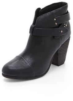9f8c02dd8da Rag and Bone Harrow Booties on shopstyle.com Black Leather Ankle Boots