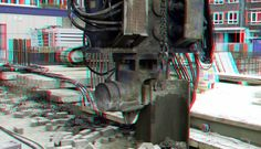 https://flic.kr/p/YjqMeX | damwand Up:Town Rotterdam 3D | anaglyph stereo red/cyan
