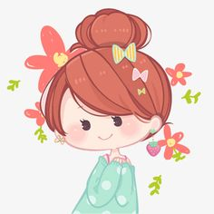 Happy girl picture material PNG and PSD Little Girl Illustrations, Cute Girl Illustration, Illustration Mignonne, Cartoon Kunst, Cartoon Drawings, Easy Drawings, Cartoon Art, Female Cartoon, Art Anime Fille