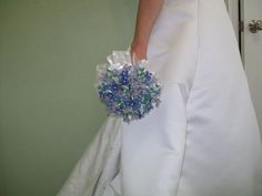 Beaded  Forget Me Not Bouquet by acupofflowers on Etsy, $250.00