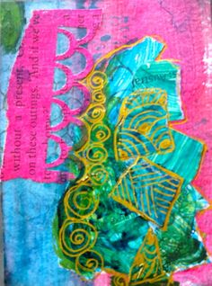 paint and collage art by kat gottke