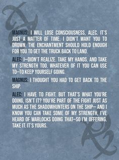 The Mortal Instruments Art, Shadowhunters The Mortal Instruments, Magnus E Alec, Bane Quotes, Alec Lightwood, Jace Wayland, Shadow Quotes, Reading City, City Of Ashes