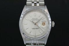 Rolex Datejust (ca. 1941)  Jubilee-Band, Weißes Zifferblatt, Strich Indexe, Engine Lünette  Referenz: 6605 | 0,41 Mio-Serie  http://www.juwelier-leopold.de/uhren/rolex/vintage.html