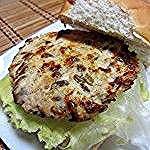 Grilled Sunflower Seed Chicken Burger Slim Belly, Sunflower Seeds, Salmon Burgers, Grilling, Pork, Meat, Chicken, Ethnic Recipes, Kale Stir Fry