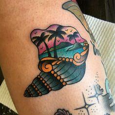 WEBSTA @ trailertrashtattoo - Tropical Goodtimes for @fannybeekay at #trailertrashtattoo tattooed by @chantel_666 !!