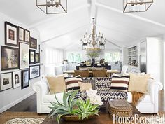 Executive Vice President of Pottery Barn and Williams-Sonoma brands, Monica Bhargava, takes us inside her globally-inspired California home and shows us how to layer personality into a room | Family Room