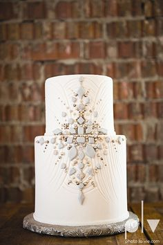 1920s Gatsby inspiration vintage wedding cakes