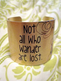 OOAK Not All Who Wander Are Lost Multicolored by kiki6462 on Etsy, $22.00