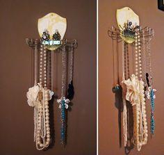 Belt hanger turned jewelry holder.