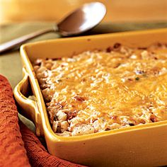 Top-Rated Casseroles | Hash Brown Casserole with Bacon, Onions, and Cheese | CookingLight.com