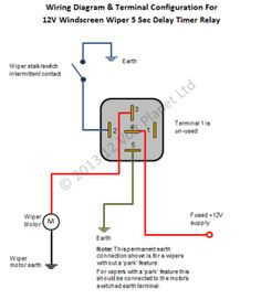 Universal Relay Wiring Diagram Phone Line Bosch 4 Pin For Doorbell Symbols Car 12 V 12v Intermittent Wiper Timer 5 Sec Delay
