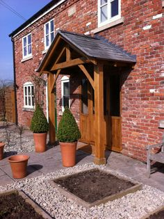 """Redwood porch front door canopy handmade in shropshire """"westminster"""" not oak, vordach Redwood porch front door canopy handmade in shropshire """"westminster"""" not oak, . Front Door Overhang, Front Door Steps, Front Door Porch, Front Porch Design, Wood Front Doors, Side Porch, Porch Designs Uk, Front Porch Pergola, Enclosed Front Porches"""