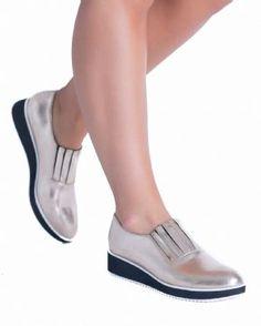 0e5ef572346 Emmeline Fashion Office Work Loafers Gold Shoes