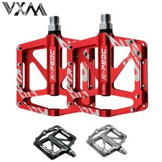 Bicycle Pedal Aluminum/Alloy Mountain Bike Pedals Road Cycling Sealed 3 Bearing Pedals BMX UltraLight bike Pedal Bicycle Parts #Affiliate