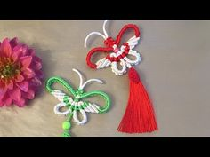 Chain Headpiece, Tatting Jewelry, Macrame Tutorial, Micro Macrame, Knots, Diy And Crafts, Crochet Earrings, Butterfly, Make It Yourself