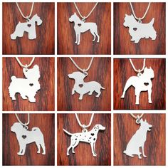 SALE Any Dog (Cats too!)  Breed Necklace Sterling Silver by InfinityGift