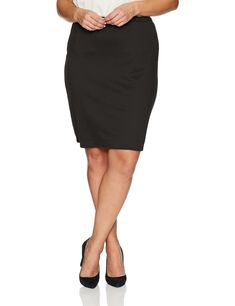 1d552f3fc83 Star Vixen Womens PlusSize Knee Length Classic Stretch Pencil Skirt Black  2X     Make. More information