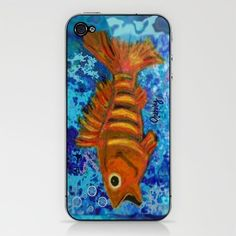Gold Striped Fish iPhone & iPod Skin