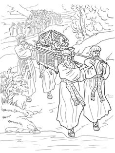josu y los israeles cruzan el ro jordn dibujo para colorear bible coloring pagescoloring sheetschildren - Colouring Sheets For Toddlers