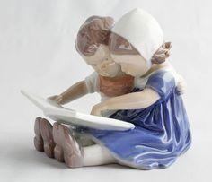 Vintage Bing & Grondahl Children Reading Figurine by SpruceCove, $85.00