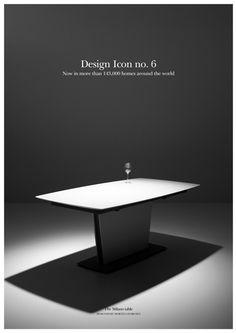 Design Icon no. 6, Stół Milano, marka BoConcept - PLN Design