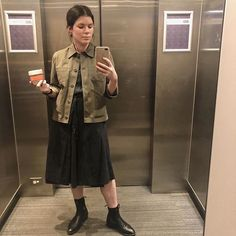 My latest (brushed cotton twill) has made her debut into the world. Makes for a solid staple in my work wardrobe rotation… Work Wardrobe, Military Jacket, Sewing Patterns, Cotton, How To Make, Jackets, Instagram, Fashion, Down Jackets