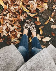 Leopard loafers and grey waterfall sweater #fashionista #styleblogger