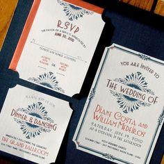 ArtDeco/Vintage Glam HochzeitseinladungenDIY von inviteddesign, $50.00