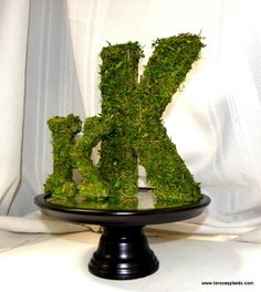 Moss covered letter or Number-Wedding Table decor-Woodland Forest Party-Cake Topper-Moss Alphabet-Moss Number-Table number Moss Covered Letters, Moss Letters, Monogram Letters, Letters And Numbers, Ampersand Sign, Letter Photography, Forest Party, Felt Owls, Ball Decorations