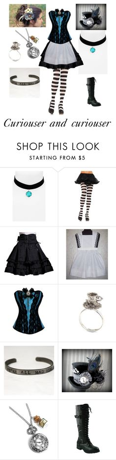 """Steampunk Alice"" by shadow-cheshire ❤ liked on Polyvore featuring Topshop, women's clothing, women's fashion, women, female, woman, misses and juniors"